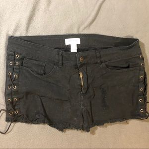 Forever 21 Cutoffs with Laces